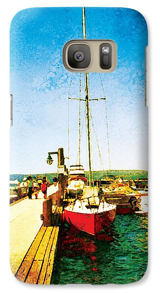 Galaxy Case featuring the photograph Red Boat by Kenneth De Tore