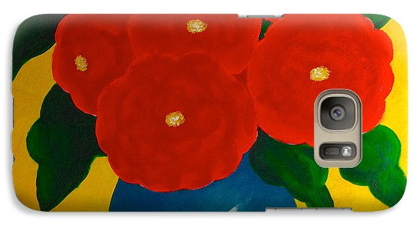 Galaxy Case featuring the painting Red Bouquet by Anita Lewis
