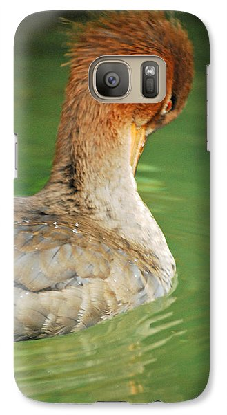 Galaxy Case featuring the photograph Red Breasted Merganser by Maggy Marsh