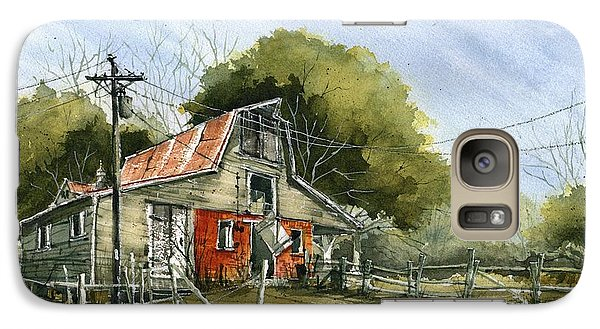 Galaxy Case featuring the painting Red Brick Barn by Tim Oliver