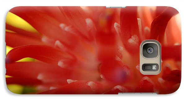 Galaxy Case featuring the photograph Red Bromeliad by Greg Allore