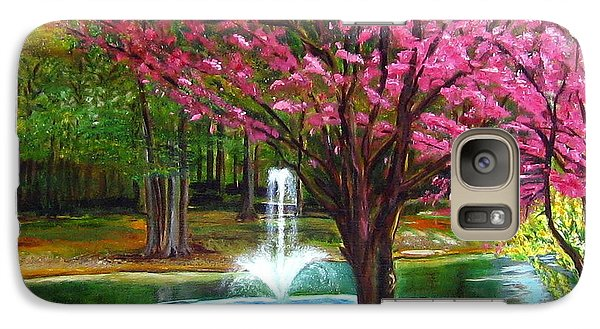 Galaxy Case featuring the painting Red Bud Tree by LaVonne Hand