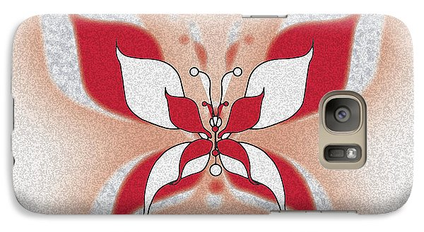 Galaxy Case featuring the digital art Red Butterfly by Christine Perry