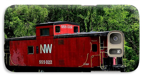 Galaxy Case featuring the photograph Red Caboose by Cathy Shiflett