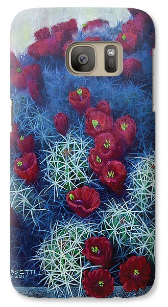 Galaxy Case featuring the painting Red Cactus by Rob Corsetti