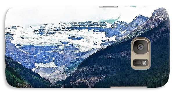 Galaxy Case featuring the photograph Red Canoes Turquoise Water by Linda Bianic