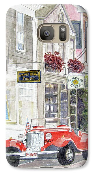 Galaxy Case featuring the painting Red Car by Carol Flagg