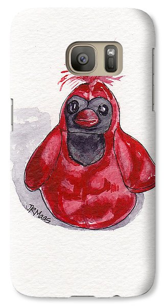Galaxy Case featuring the painting Red Cardinal by Julie Maas