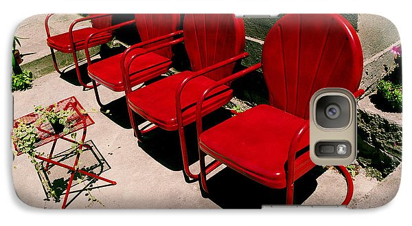 Galaxy Case featuring the photograph Red Chairs by Tom Brickhouse