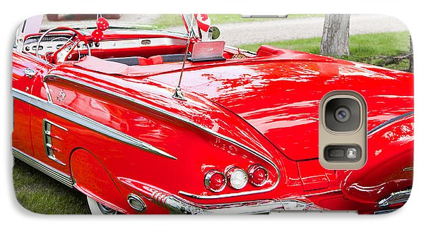 Galaxy Case featuring the photograph Red Chevrolet Classic by Mick Flynn
