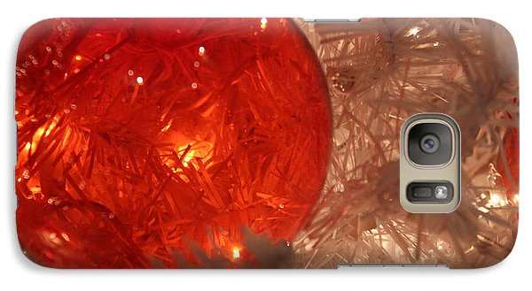 Galaxy Case featuring the photograph Red Christmas Ornament by Lynn Sprowl