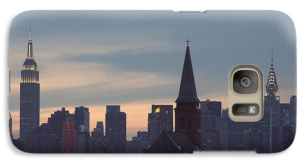 Galaxy Case featuring the photograph Red Church by Steven Macanka