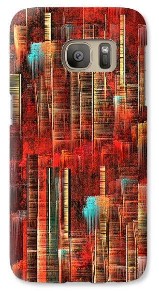 Galaxy Case featuring the painting Concrete Jungle by Yul Olaivar