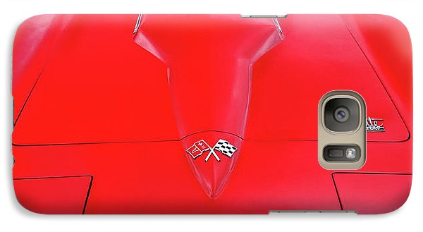 Galaxy Case featuring the photograph Red Corvette by Dave Mills
