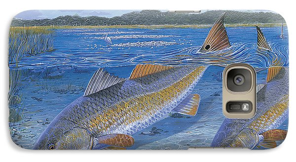 Catfish Galaxy S7 Case - Red Creek In0010 by Carey Chen