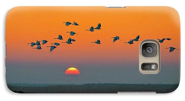 Crane Galaxy S7 Case - Red-crowned Crane by Hua Zhu