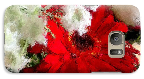 Galaxy Case featuring the painting Red Daisy by Robert Smith