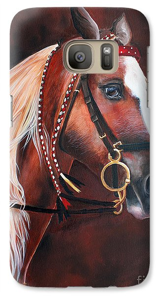 Galaxy Case featuring the painting Red by Debbie Hart