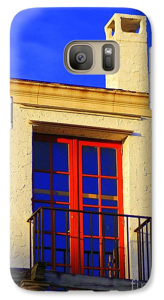Galaxy Case featuring the photograph Red Door by George Mount