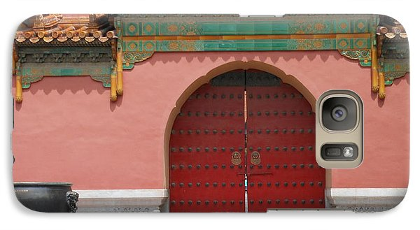 Galaxy Case featuring the photograph Red Door In The Forbidden City by Kay Gilley