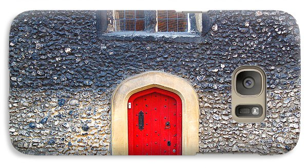 Galaxy Case featuring the photograph Red Door In Winchester Uk by Haleh Mahbod