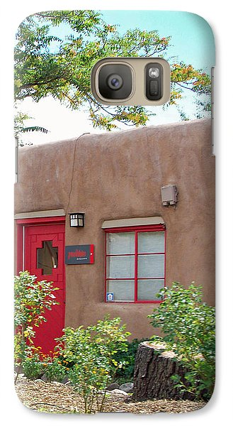 Galaxy Case featuring the photograph Red Door by Sylvia Thornton