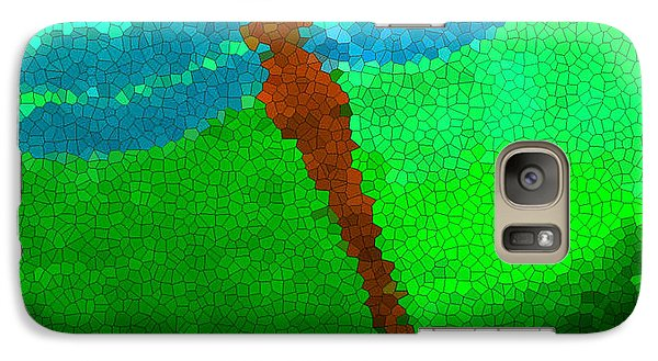 Galaxy Case featuring the digital art Red Dragonfly by Anita Lewis