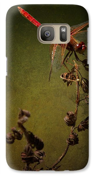Red Dragonfly On A Dead Plant Galaxy S7 Case