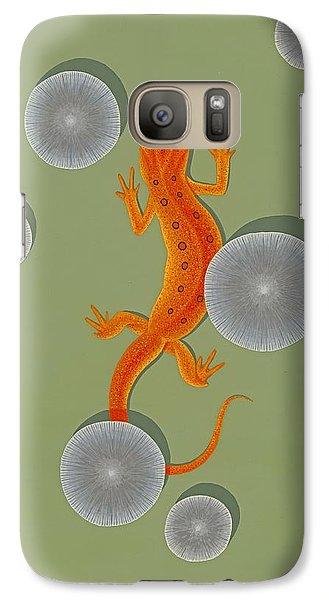 Red Eft Newt Galaxy Case by Nathan Marcy