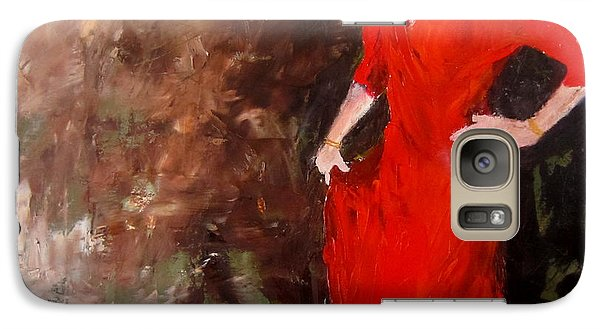 Galaxy Case featuring the painting Red Ellegance by Keith Thue