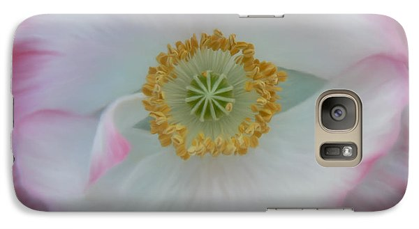 Galaxy Case featuring the photograph Red Eye Poppy by Barbara St Jean