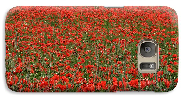 Galaxy Case featuring the photograph Red Field by Simona Ghidini