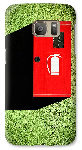 Red Fire Extinguisher Box Galaxy S7 Case by Silvia Ganora