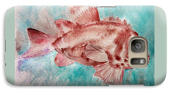 Galaxy Case featuring the painting Red Fish by Jasna Dragun