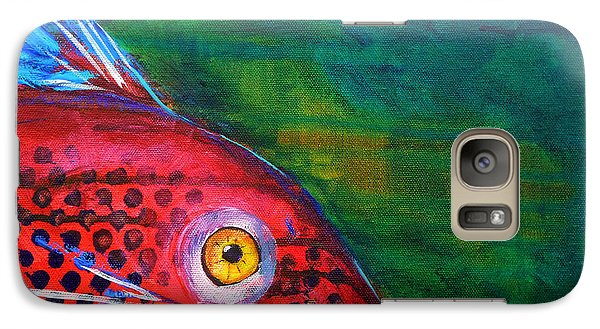 Catfish Galaxy S7 Case - Red Fish by Nancy Merkle