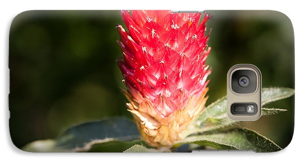 Galaxy Case featuring the photograph Red Flower by John Wadleigh