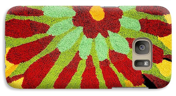 Galaxy Case featuring the photograph Red Flower Rug by Janette Boyd