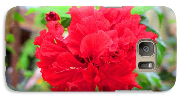 Galaxy Case featuring the photograph Red Flower by Sergey Lukashin