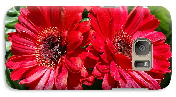 Galaxy Case featuring the photograph Red Flowers by Rose Wang