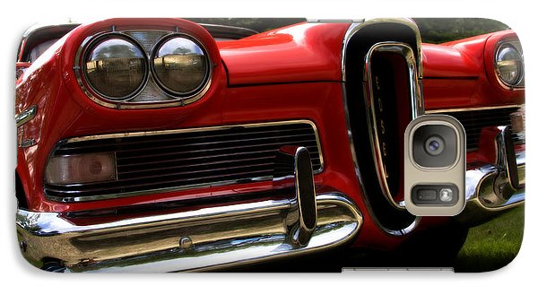 Galaxy Case featuring the photograph Red Ford Edsel by Mick Flynn
