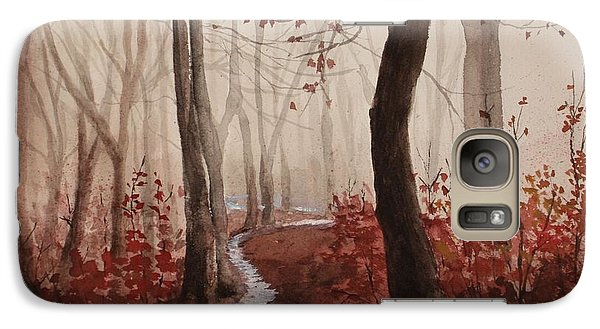 Galaxy Case featuring the painting Red Forest by Rachel Hames