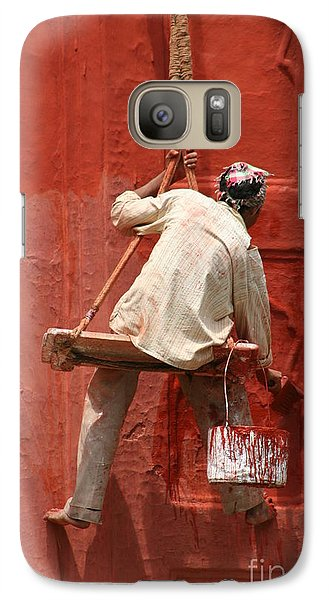 Galaxy Case featuring the photograph Red Fort Painter by Nola Lee Kelsey