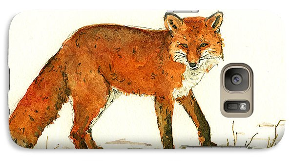 Red Fox In The Snow Galaxy S7 Case
