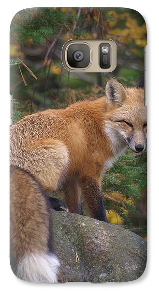 Galaxy Case featuring the photograph Red Fox by James Peterson