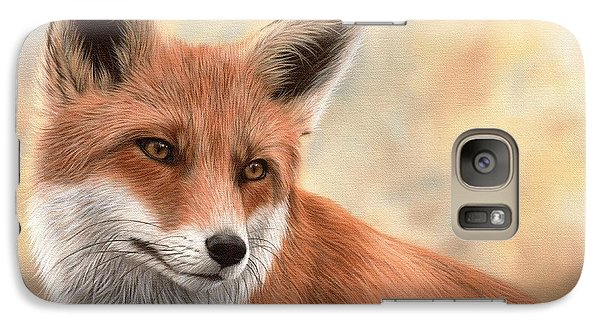 Red Fox Painting Galaxy S7 Case