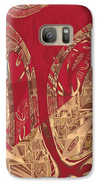 Red Geranium Abstract Galaxy S7 Case