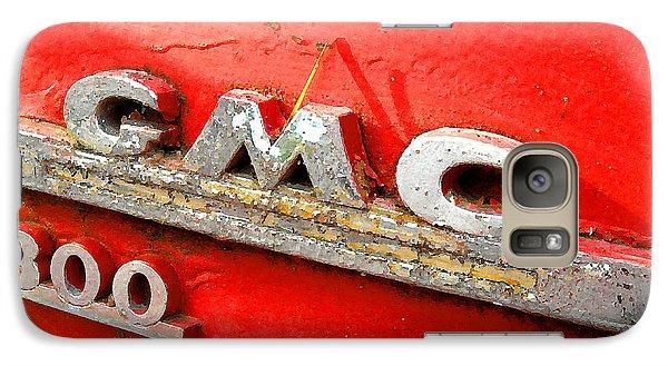 Galaxy Case featuring the digital art Red Gmc 300 by K Scott Teeters