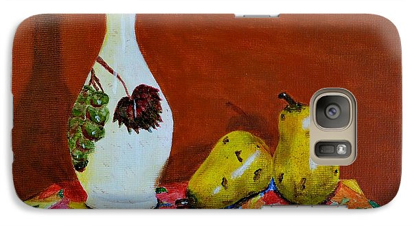 Galaxy Case featuring the painting Red Grapes by Melvin Turner