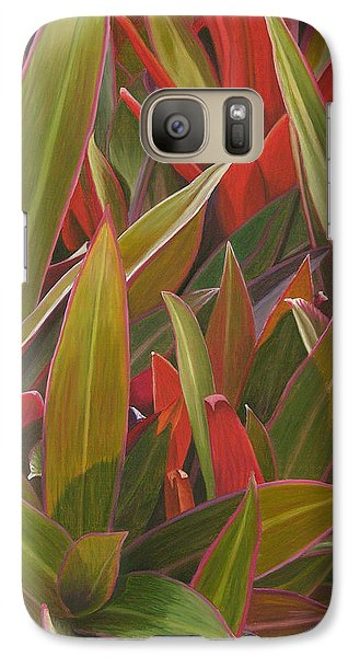 Galaxy Case featuring the painting Red Green And Purple by Thu Nguyen