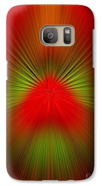 Galaxy Case featuring the photograph Red Green Blur by Trena Mara